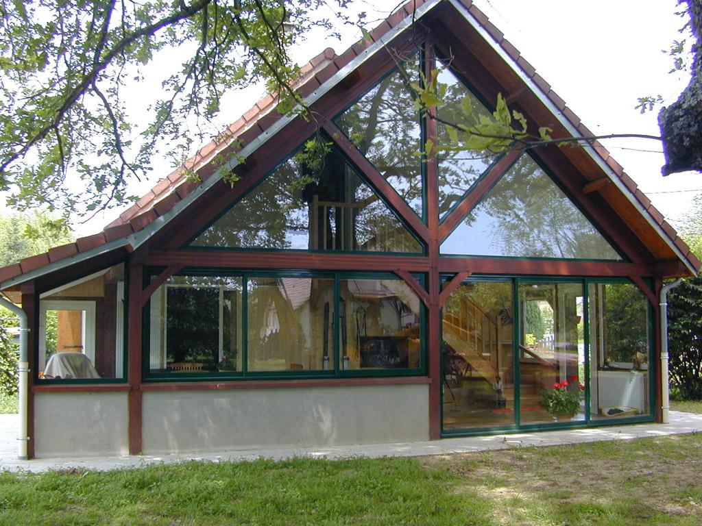 Extension tecsabois charpente - Veranda extension maison ...