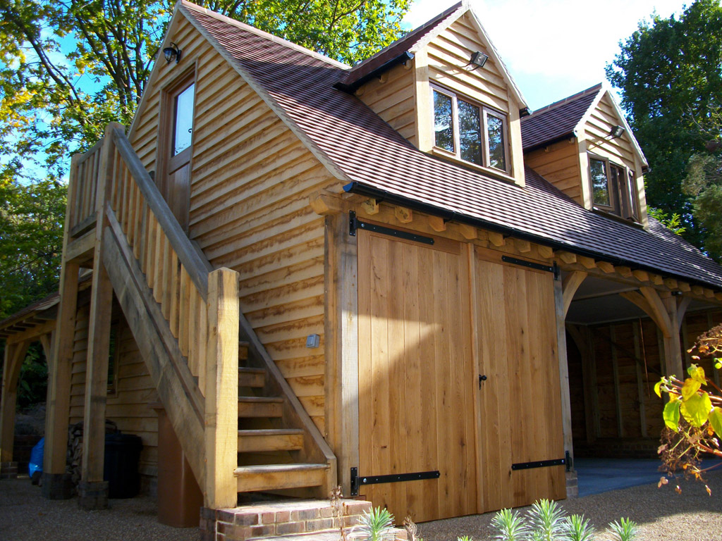 Maison ossature bois tecsabois charpente - Poutre en chene exterieur ...