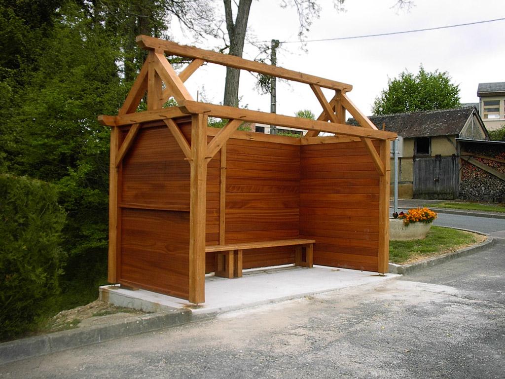 abribus tecsabois charpente. Black Bedroom Furniture Sets. Home Design Ideas